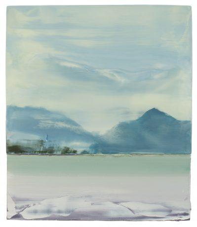 Sneeuw en Ijs 2018 encaustiek en olieverf op houtpaneel 57 x 49 cm