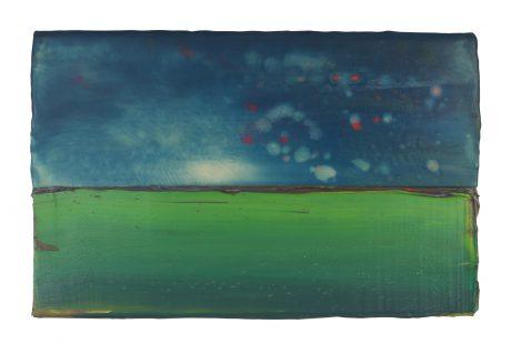 Summernight 19,5 x 30 cm encaustiek en olieverf op eikenhout