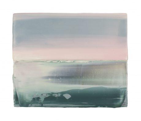 Sunrise Sea  15 x 18,5 cm encaustic en olieverf op hout