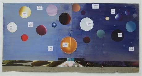 Collage 'Dag en Nacht boven Museum Belvédère'