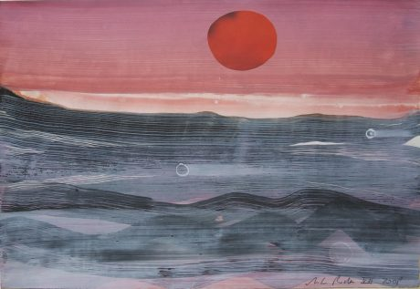 Red Sun 2008 20 x 28 cm private collection