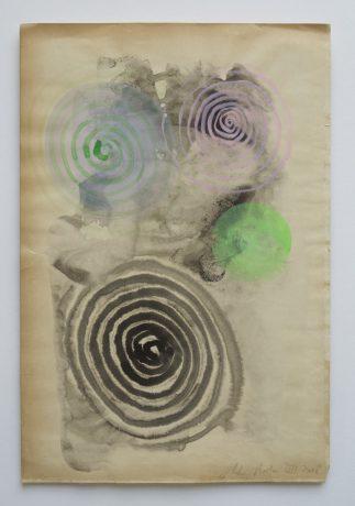 Sound of nature 2008 inkt en aquarel op antiek papier 28,5 x 19 cm