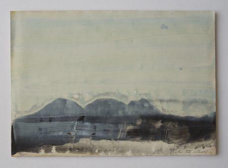 Duinen 2008 inkt en aquarel op antiek papier 20 x 28,5 cm