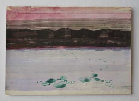Strand en duinen 2008 inkt en aquarel op antiek papier 20 x 28,5 cm