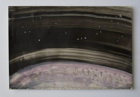 Universum 2008 inkt en aquarel op antiek papier 19 x 28,5 cm