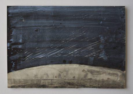 Regen 2008 inkt en aquarel op antiek papier 19,5 x 28 cm