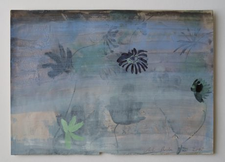 Passiebloemen 2008 aquarel op antiek papier 20 x 28 cm
