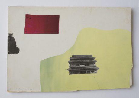 Paper Travel 2006 collage op antiek papier 19,5 x 29 cm