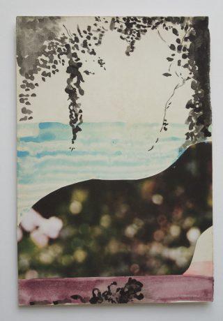 The Beach 2006 aquarel, inkt, collage op antiek papier 26 x 19,5 cm