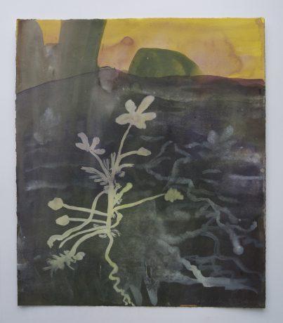 The Garden 2002 aquarel op papier 29 x 25 cm