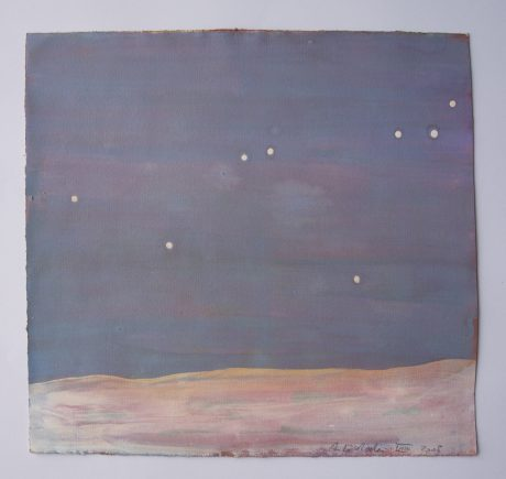 Zomernacht 2008 gouache op papier 22,5 x 24 cm