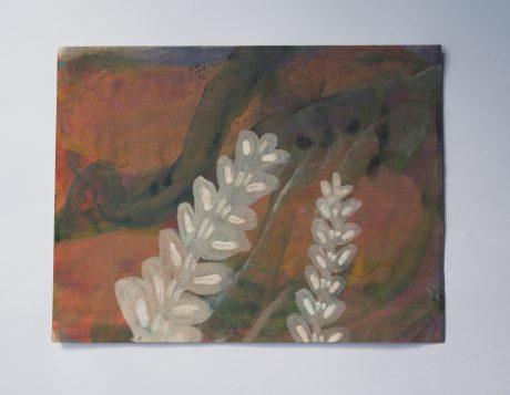 In het Bos II 2002 inkt en aquarel op antiek papier 17 x 22,5 cm