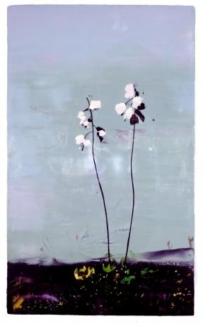 Wilde Hyacinth  131 x 79 cm  encaustiek op hout