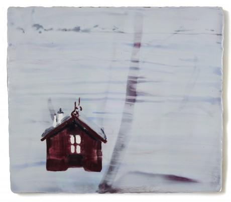 Composing Hut of Edvard Grieg  35 x 41 cm  encaustiek op hout