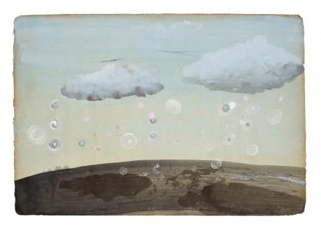 Regenwolken 2008  25 x 35 cm  gemengde techniek op papier