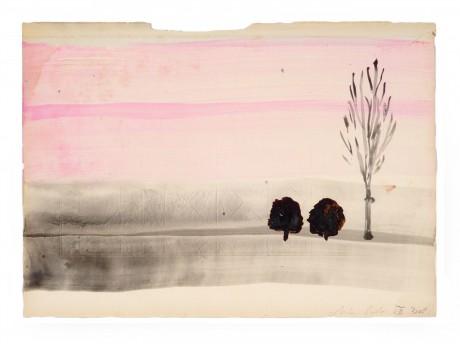 Wintertrees 2008 20 x 28 cm  gemengde techniek op papier