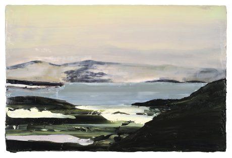 Norwegian Landscape 2008 encaustiek en olieverf op houtpaneel 57 x 86 cm - collectie K.F. Hein Fonds Utrecht