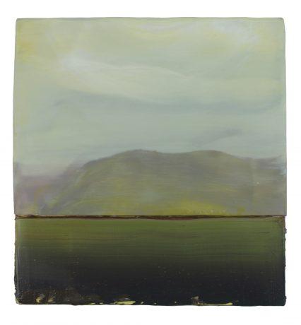 Green Coast, 33 x 31,5 cm encaustic & oilpaint on wood