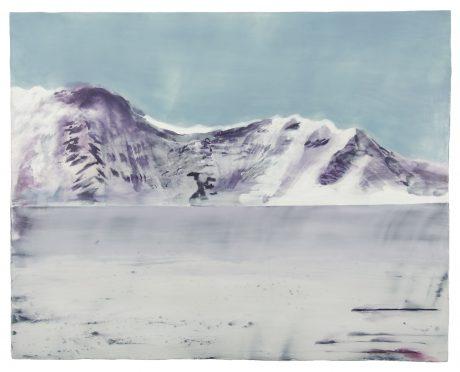 Mountains & Water 2008 encaustic op houtpaneel 92 x 112 cm