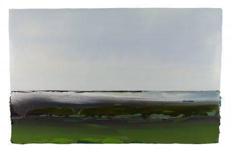 Het Hoogeland 58 x 90 cm encaustiek en olieverf op houtpaneel  -  private collection