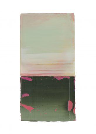 New Horizon encaustiek en olieverf op hout 20 x 10 cm