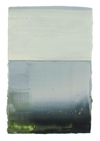 Water & Sky 23 x 16 cm encaustiek en olieverf op hout