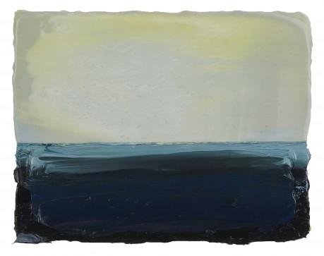 Licht  17 x 21 cm  encaustiek en olieverf op zeehout