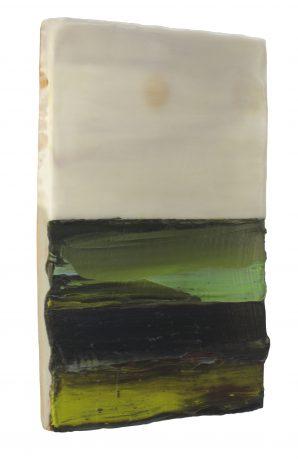 Sideview Na de Regen 2012 encaustiek en olieverf op hout 31 x 21 cm