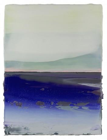 Lucht & Water  41 x 31 cm  encaustiek en olieverf op houtpaneel