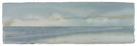 Strand 16 x 50 cm encaustiek en olieverf op hardhout