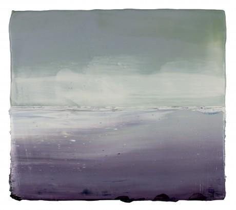 Wind & Wolken 22 x 24,5 cm encaustiek en olieverf op hout