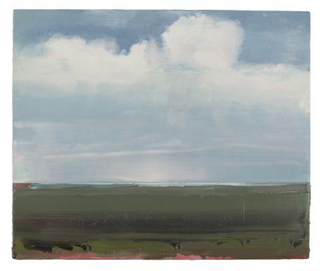 Het Wad, Wolken 67 x 80 cm encaustiek en olieverf op houtpaneel