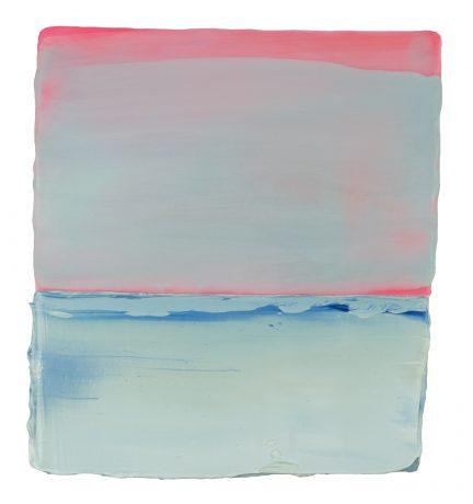Sundown Sea 18 x 16 x 5 cm encaustiek en olieverf op eikenhout