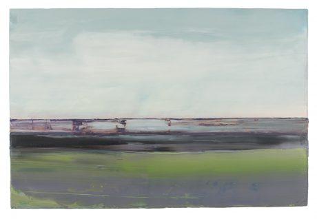 Het Wad 80 x 120 cm encaustiek en olieverf op houtpaneel  -  courtesy Art Forum Antwerpen