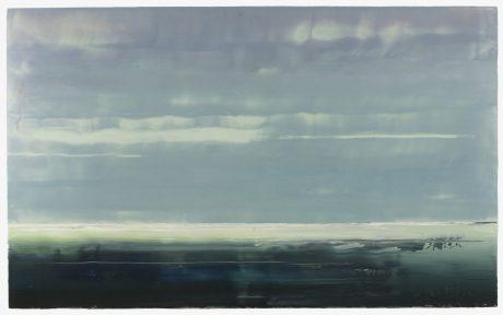 Noordzee  110 x 180 cm encaustiek en olieverf op houtpaneel