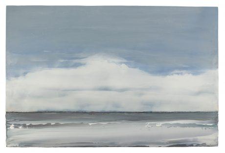 Wind aan Zee 80 x 121 cm encaustiek en olieverf op houtpaneel