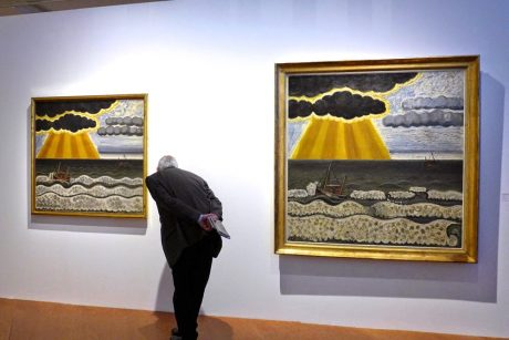 Jean Brusselmans, tentoonstelling 'De Zee- salut d'honneur Jan Hoet' 2015 Mu.ZEE Oostende BE