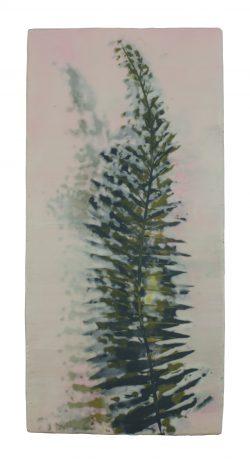 Fern 36,5 x 17,5 cm encaustic on oakwood