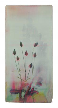 Flowering Grass 36,5 x 17,5 cm encaustic on oakwood