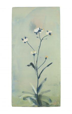 Herbal 36,5 x 18 cm encaustiek op eikenhout - courtesy Galerie de Vis Harlingen