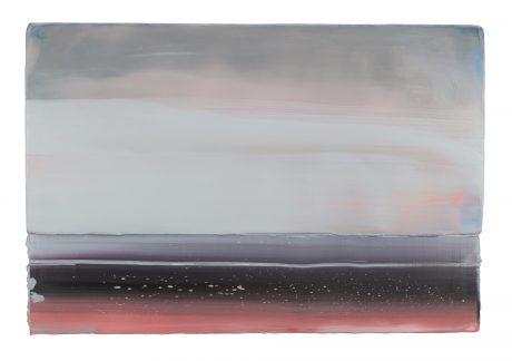 Mineral Landscape 38 x 56 cm encaustic & oilpaint on wood