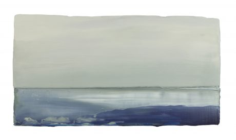 North Coast 24 x 44 cm encaustic and oilpaint on wood