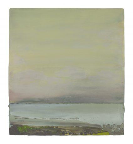 Painters Fern II 50,5 x 46 cm encaustic & oilpaint on wood