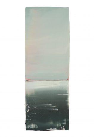 Water en Licht 2018 encaustiek en olieverf op hout 36 x 13 cm